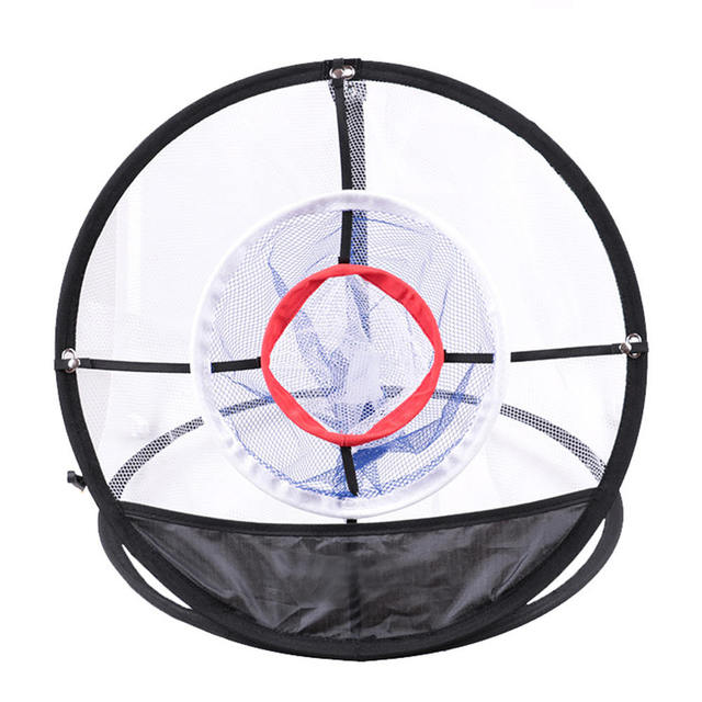 New Golf Pop UP Indoor Chipping Pitching Cages Mats Practice Easy Net Golf Training Aids Metal + Net Outdoor Tools