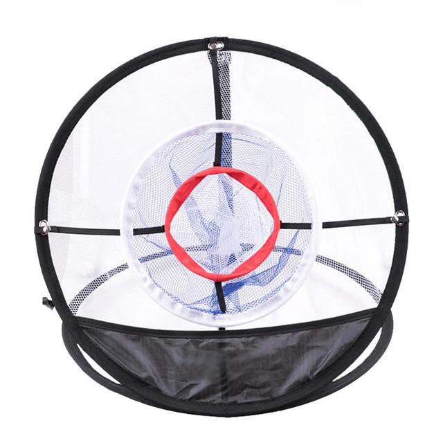 Nouveau Golf Pop UP intérieur déchiquetage Cages tapis pratique facile Net Golf entraînement aides métal + Net extérieur outils