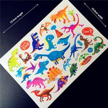 New World Jurassic Park Tattoo For Kids Fake Flash Tattoo Dinosaurs Stickers Baby Tatoo, Child Cartoon Body Arm Free Shipping