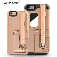 Fashion Bluetooth Selfie Stick Case Bag For IPhone 6 Wireless Portable Folded Shockproof Armor Fundas Cover