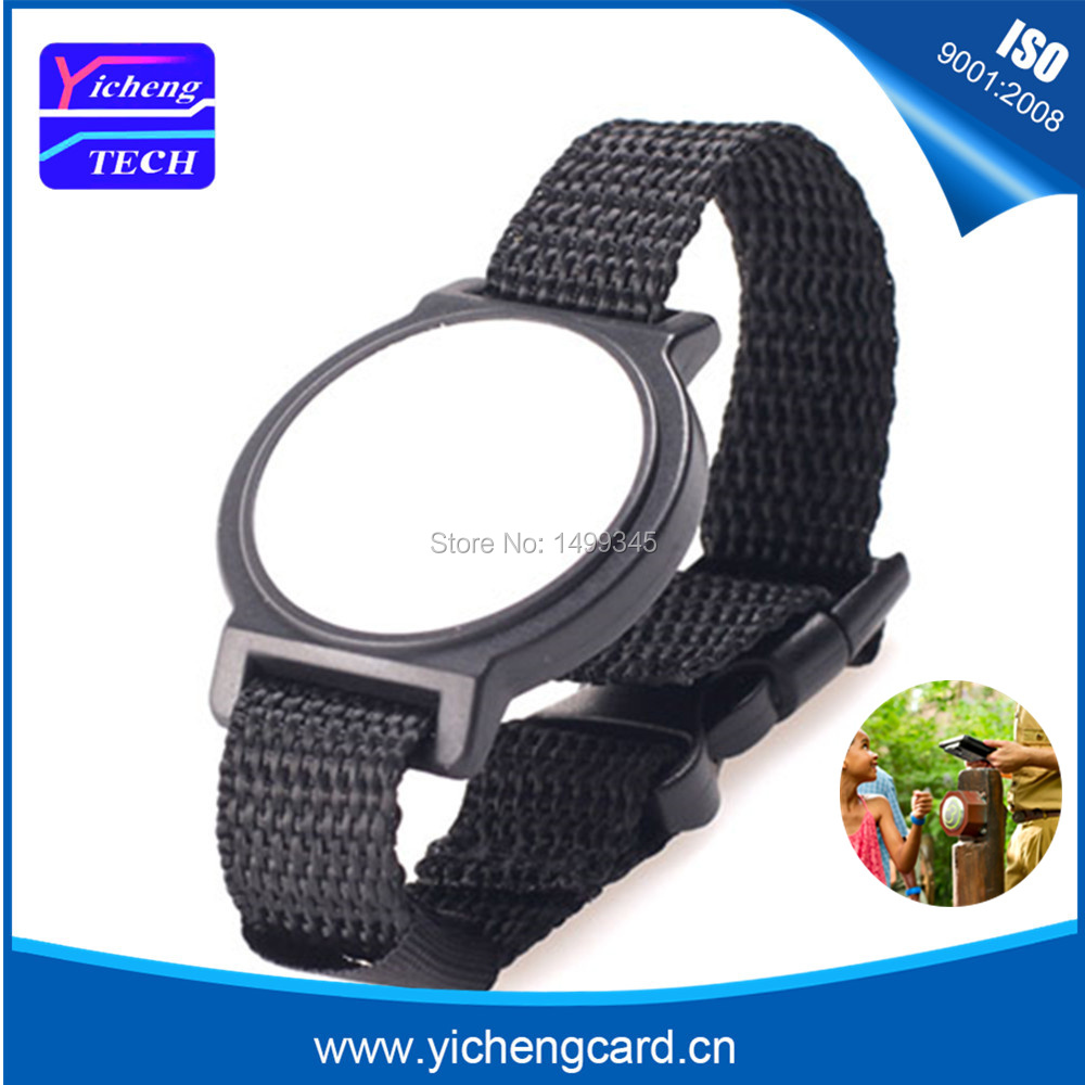100pcs RFID 13.56mhz MF 1K S50 Tag NFC wristband waterproof bracelet Proximity Smart Card for e-ticket Access control payment