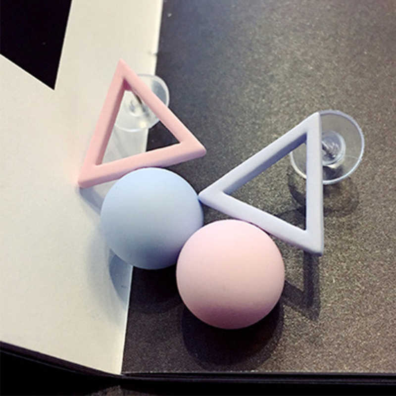 SUKI Fashion Triangle Different Candy Color Simulated Pearl Earrings For Women 2019 New Trend Earrings Jewelry Party Gift
