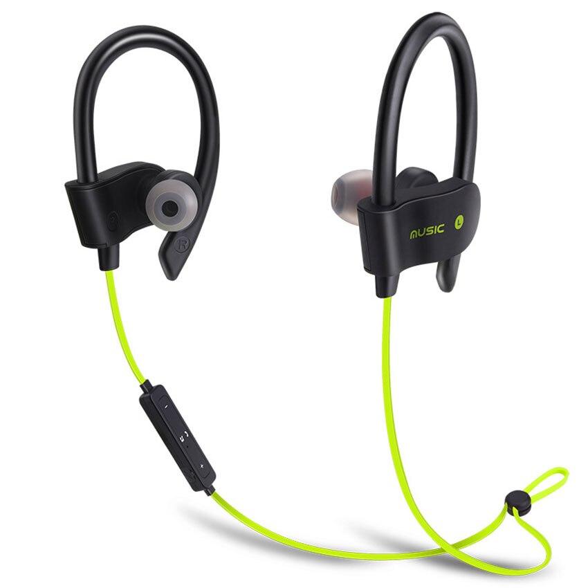 56S Bluetooth Earphones Wireless Earhook Sports Sweatproof Stereo Earbuds Headset In-Ear Headphones with Mic For Running Fitness