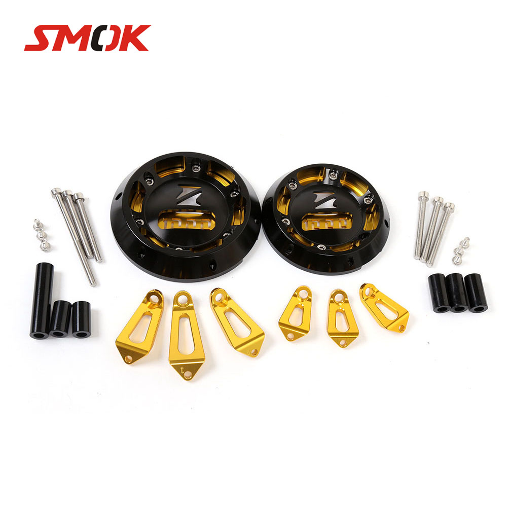 SMOK Motorcycle CNC Aluminum Alloy Engine Protective Cover Guard For Kawasaki Z1000 Z1000SX Ninja 1000 2011-2014 2015 2016 waase engine case guard cover clutch cover ignition cover set crash protection for kawasaki z1000sx 2011 2012 2013 2014 2017