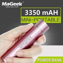 Mageek power bank 3350 mah bateria externa carregador de energia de backup portátil powerbank para samsung xiaomi telefone celular [rosa]