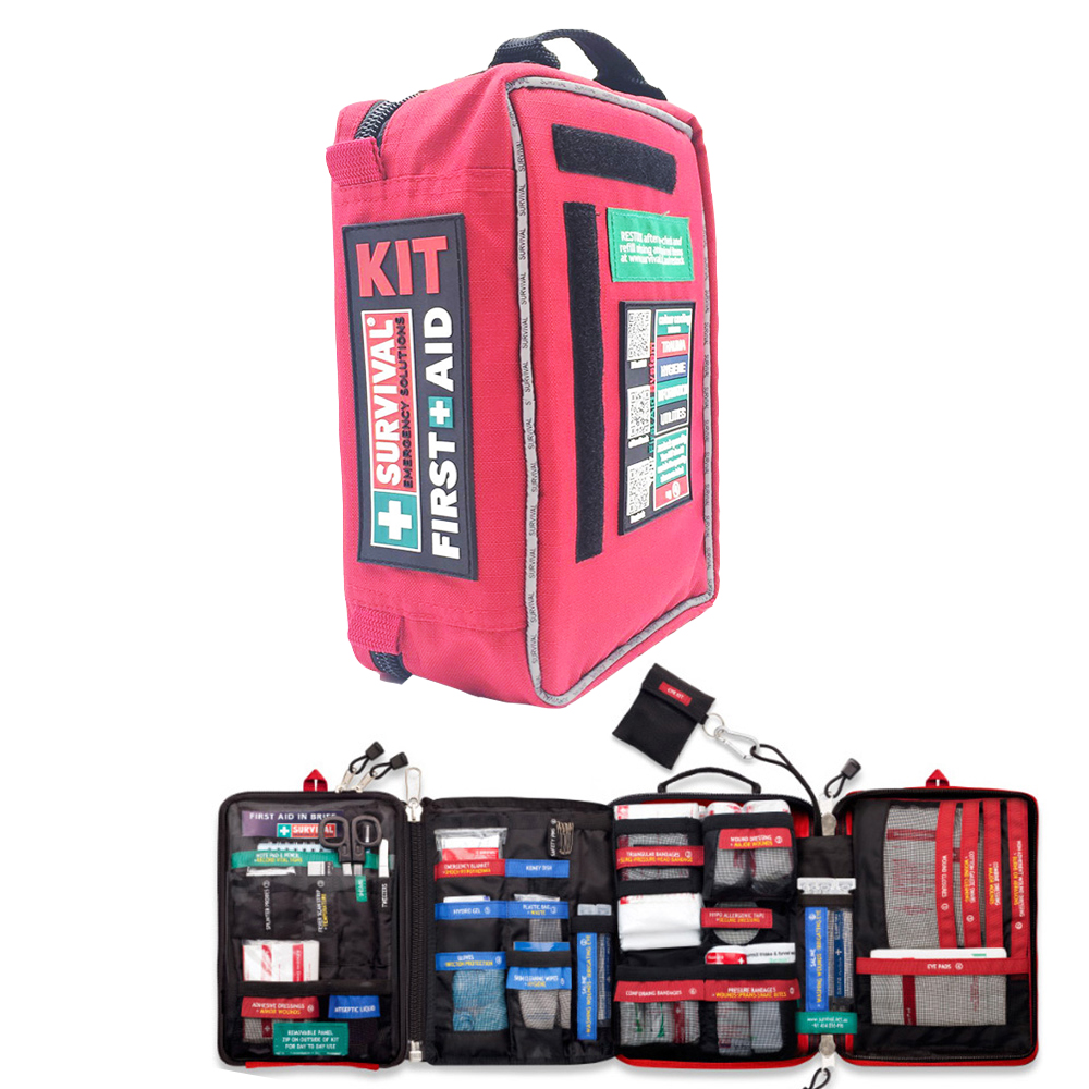 First Aid Kit for Workplace and Home Outdoors Camping Hiking Emergency KIT Treatment 4 Sections Pack