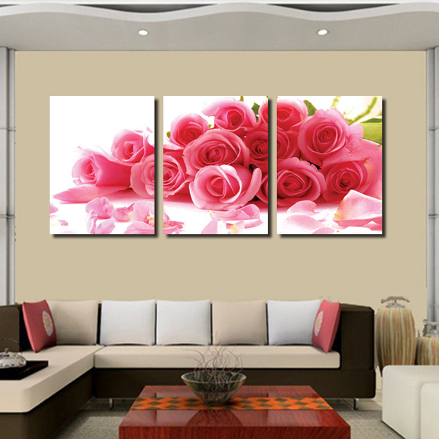 Aliexpress.Com : Buy 3 Piece Canvas Wall Romantic Home Decor