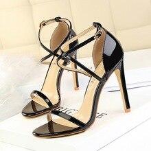 New Fashion Women Sandals Thin Heels Buckle High Classic Shoes She ERA