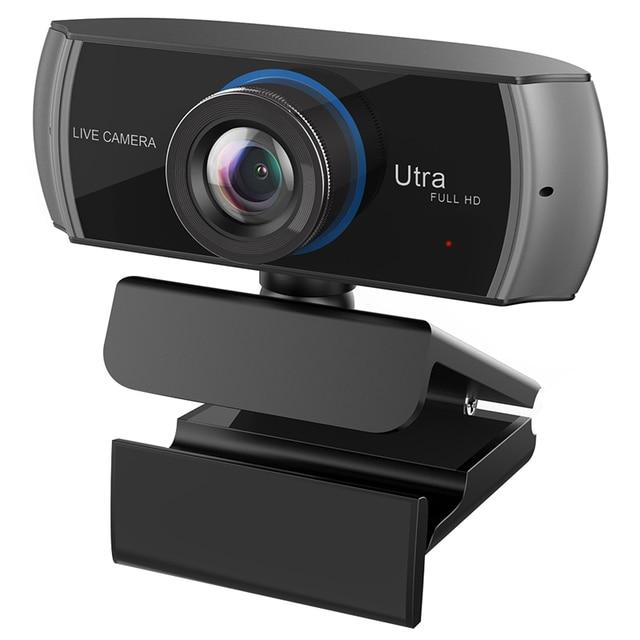 เว็บแคม HD ในตัวไมโครโฟนคู่สมาร์ท 1080 P กล้องเว็บ USB Pro Stream กล้องสำหรับเดสก์ท็อปแล็ปท็อปเกม PC Cam สำหรับ Mac OS Windows10/8