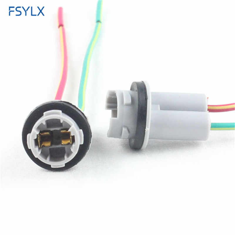 FSYLX Auto 501 T10 T15 lamp houder connectors T10 Auto LED lamp socket 501 W5W 194 168 lamp houder kabel adapter sockets
