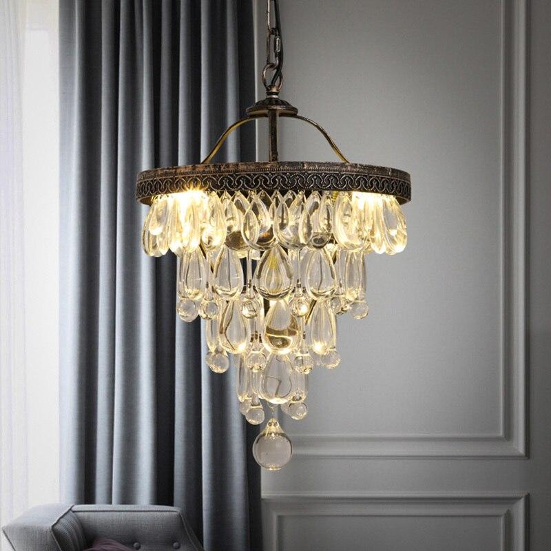 Průmyslové Vintage Luxusní luxusní křišťálový lustr Villa Hotel Dekorativní osvětlení
