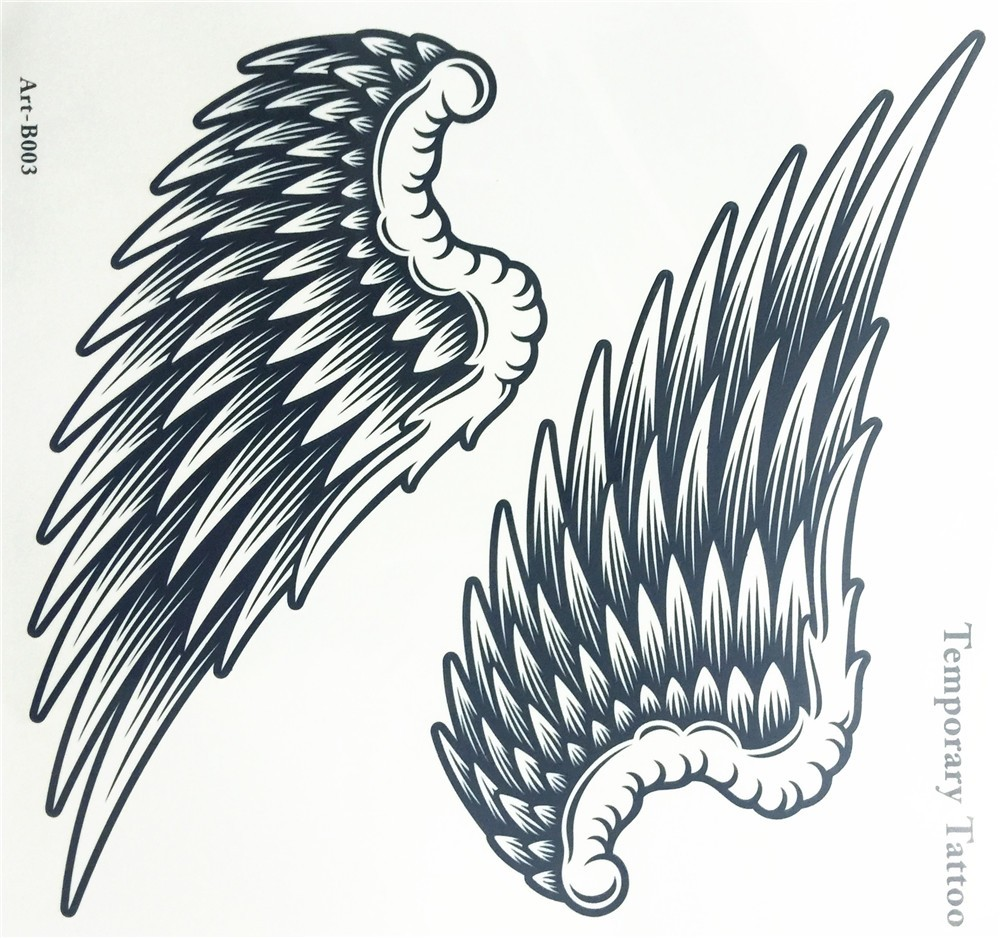Angel Wings Raver Arm Leg Body Art Waterproof Temporary Tattoo Sticker women's make up Temporary tattoos 2
