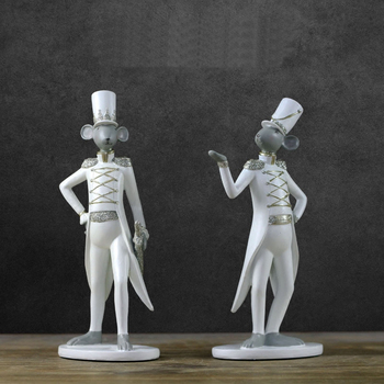 Unique gentleman mouse modeling resin statue Modern art creative figurines