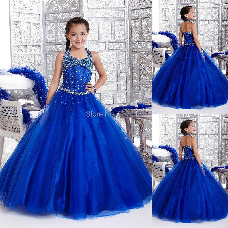 Popular Royal Blue Flower Girl Dresses-Buy Cheap Royal Blue Flower ...