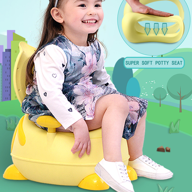 New Style Lovely Duck Baby Potty Soft PU Potty Seat For Kids