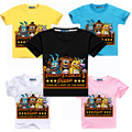 2016 new summer short sleeves boys t shirt five nights at freddy kids shirts baby girls t-shirt cartoon printing bear MS1092