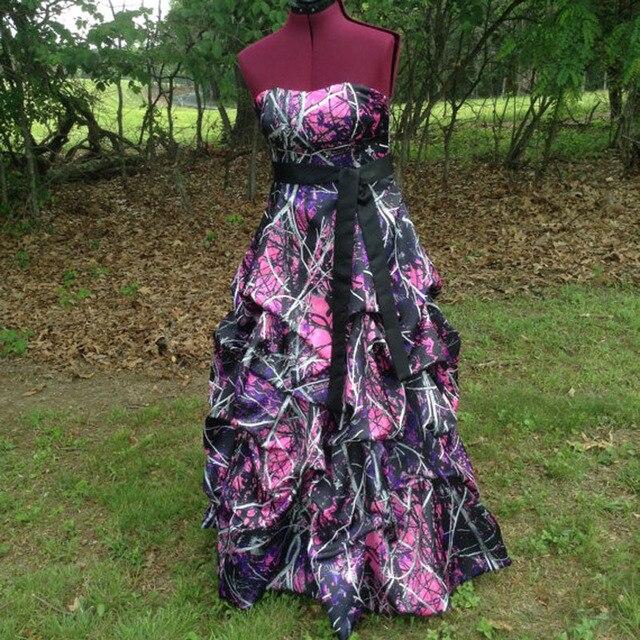 086c9b9d5dc muddy girl camo prom dresses 2018 vestido de festa longo camouflage party  gown custom make free shipping