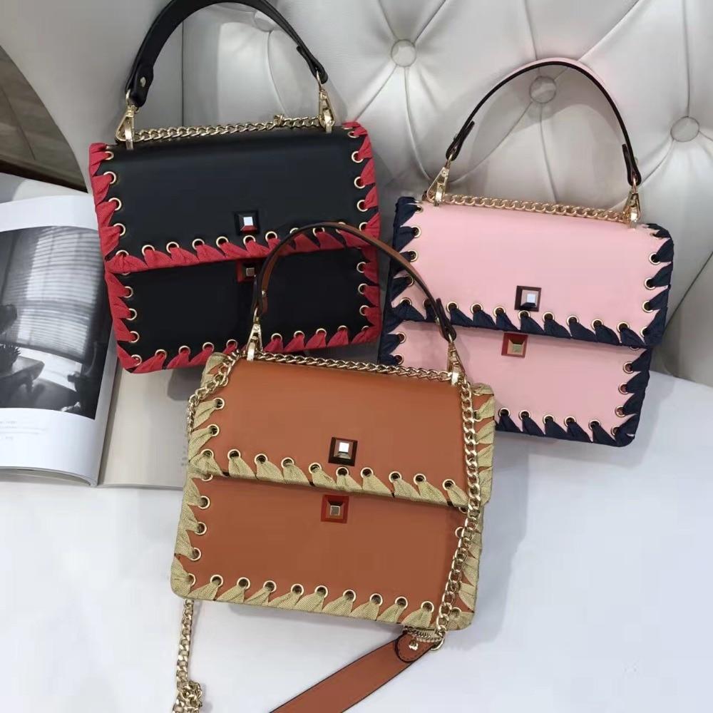 ФОТО 2017 Direct Selling Hot Sale Designer Handbags Of High Quality Leather Shoulder Bag Lady's Chain Clutch Purse Fashionable Woman