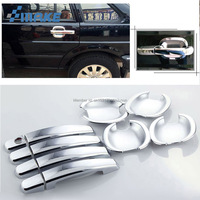 smRKE For VW Santana 2002 2012 Car Chrome Door Bowl Cover Stickers Interior Decoration Sequins Brand Auto Accessories Styling