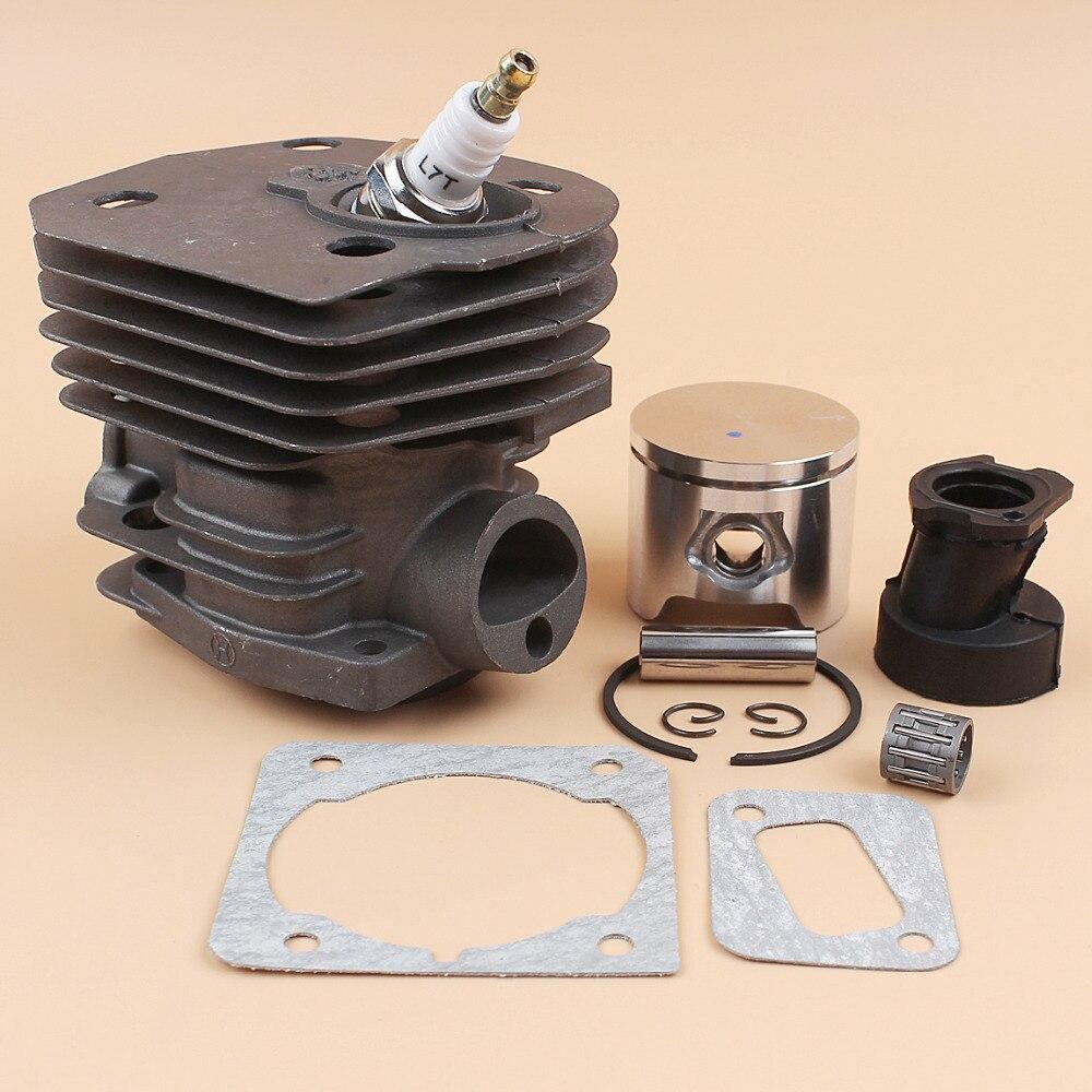 44mm Cylinder Head Piston Intake Manifold Boot Gasket Engine Kit Fit HUSQVARNA 350 346 351 353 Chainsaw Motor Parts