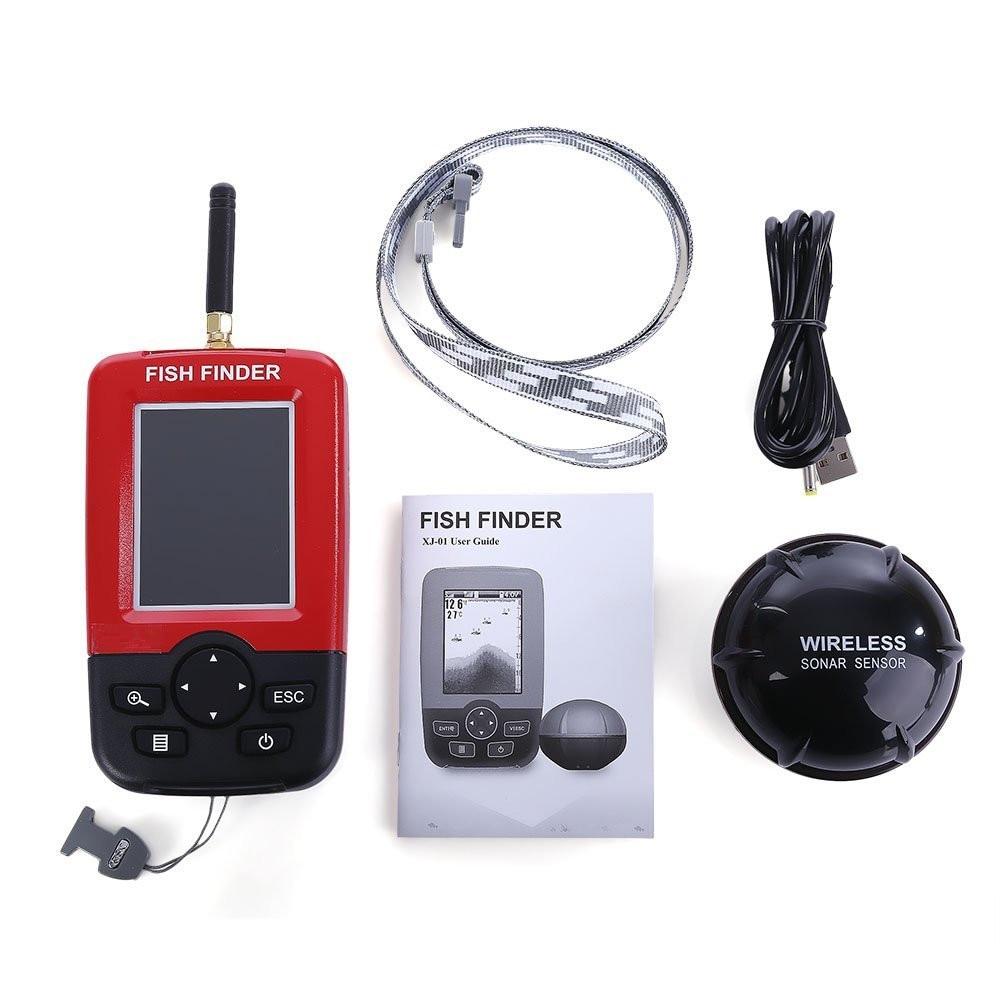 Smart Portable Fish Finder with Wireless Sonar Sensor Echo Sounder for Lake Sea Fishing Finders Wireless Fishing portable fish finder bluetooth wireless echo sounder underwater bluetooth sea lake smart hd sonar sensor depth