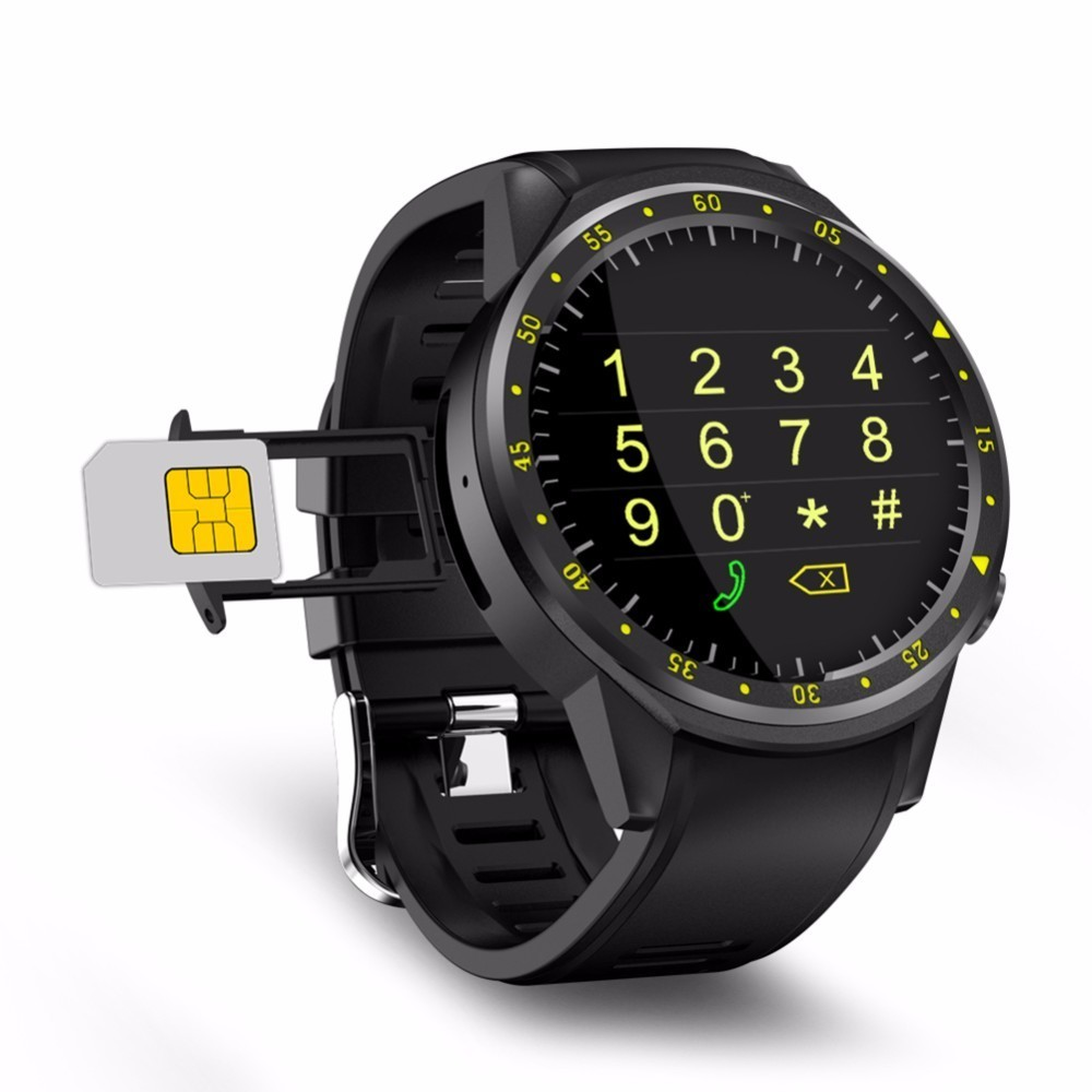 цена на F1 1.3inch Bluetooth 4.0 Smartwatch 2G SIM Full Round IPS Touch Screen MT2503 Chip Smart GPS Sports Watch Phone for IOS Android