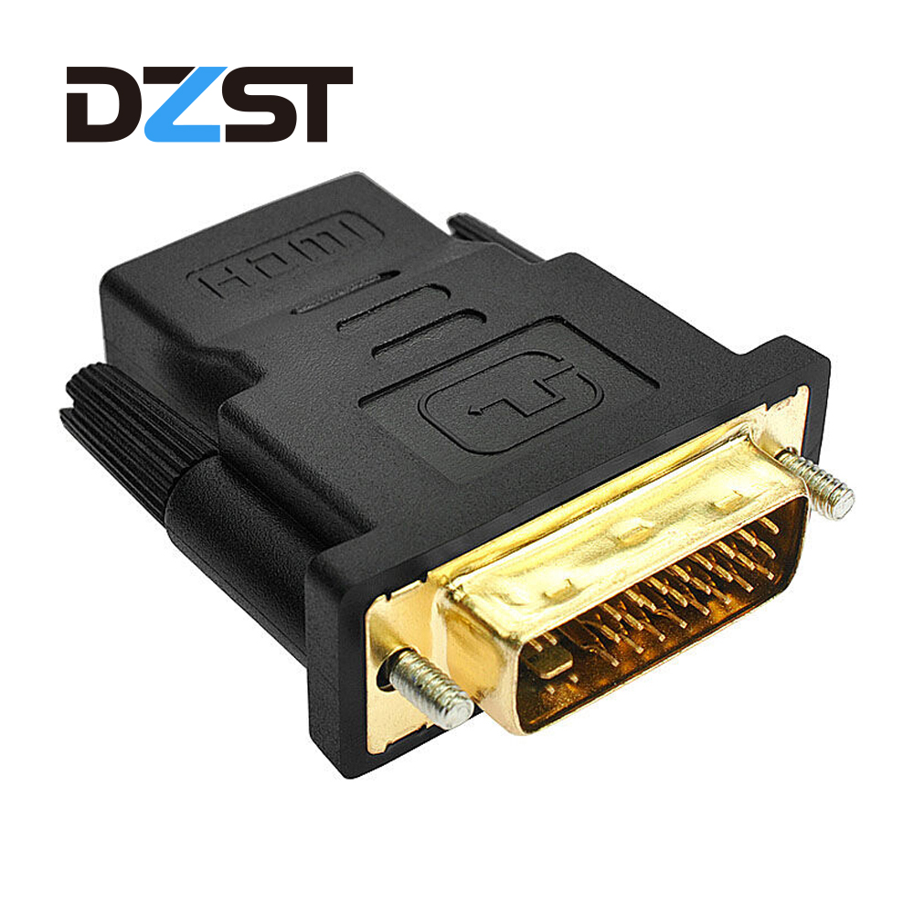 DVI-I Male to VGA Male Cable Black Dual Link 1080P F LCD Screen PC Monitor