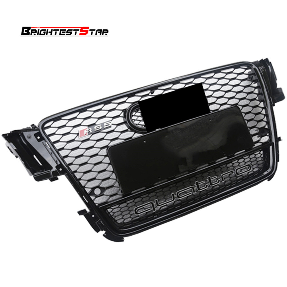 Black Front Bumper Grille Audi Grill Quattro Emblem Grill Chrome Grille A5 For Audi A5 S5 RS5 2008 2009 2010 2011 Sedan Coupe 5x barlow lens 1 25 metal fully multi coated optics 3 element apo 5 times magnify for astronomical telescope eyepiece ocular