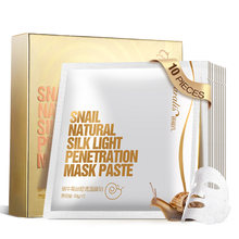 10 pcs/แผ่น Mask Snail Essence Facial Mask Hydrating Moisturizing หน้ากาก Smooth Whitening Anti - Aging น้ำ - ล็อค skin Care(China)