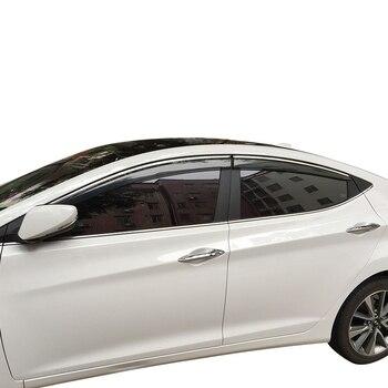Для Hyundai Elantra Sedan 2011-2014 оконные козырьки тенты защита от ветра и дождя козырек Vent 4 шт./компл.