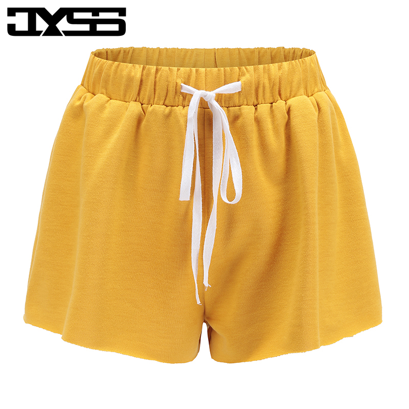 casual style women   shorts   yellow pink gray elastic belt   shorts   girl for summer beach wear   shorts   for vacation holiday 81561