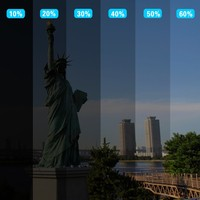 Hot Sale 152cmx 300cm Dark Black Car Window Tint Film Glass VLT 5 2PLY Car Auto