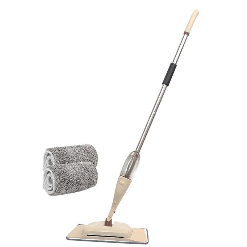 360 Degree Spray Mop Floor Mop with 2 Fiber Pads for Home Tiles Floor Cleaning Brush Sweeper Broom Water Spray Flat Mop