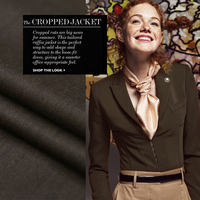 Jenny Story1986 Low Coffee Color Time Super Anti Wrinkle Wool Material Linen Fabrics Worsted Wool Suit