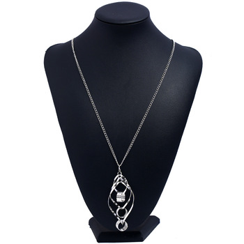LZHLQ Bohemian Necklace Jewelry Fashion Vintage Long Collier Pendant Power Trendy Style