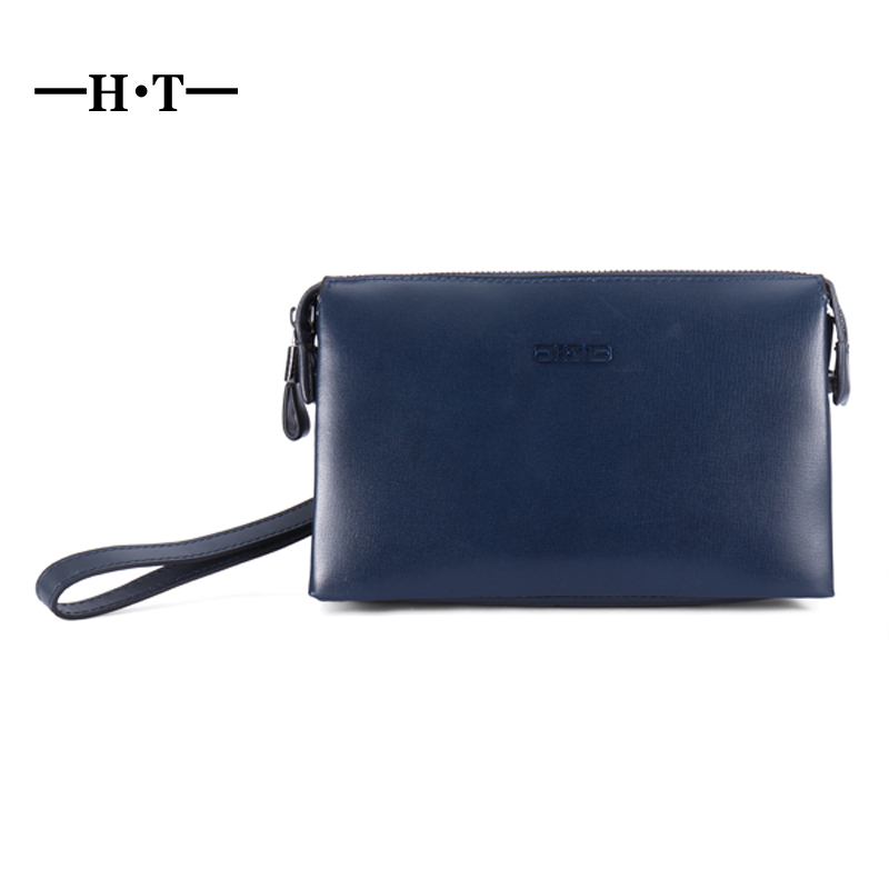 HT Mens Genuine Leather Long Zipper Wallet Purse Phone Bag Pocket Men Luxury Clutch Bags Cowhide Wristlet Pouch With Coin Cards цена