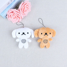 10CM Plush Toy Puppy Key Ning Pendant Human Dog Chain Decoration Girl Bag Trailer Children Gift
