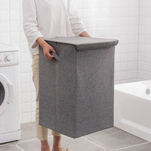 כותנה כביסה סל עם כיסוי אמבטיה סל כביסה גדול מטבח אחסון סל בית מתקפל עמיד למים כביסת
