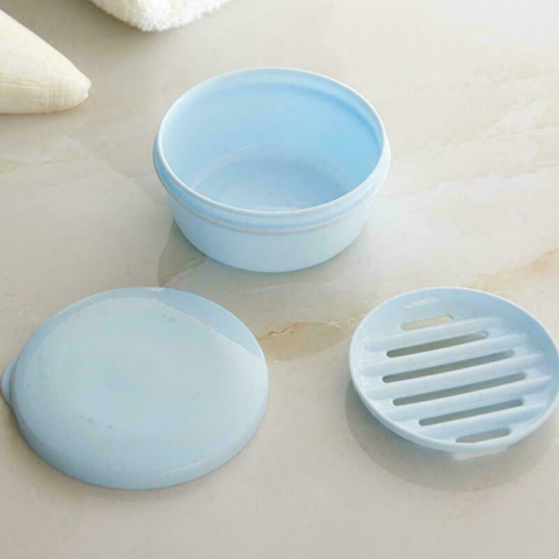 Portable Case Drain Layer Travel Washing Soap Box with Lid Seal Leak proof Dish Portable Soap Dishes in Portable Soap Dishes from Home Garden