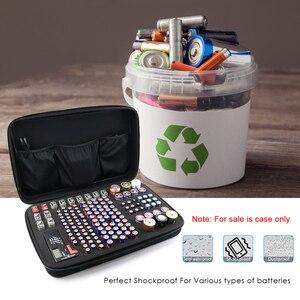 Image 5 - 146 Pcs Draagbare Hard Shockproof Eva Aa/Aaa/C/D/9V Batterij Case Box Storage organizer Houder Voor Tester Extra Ruimte Voor Lader