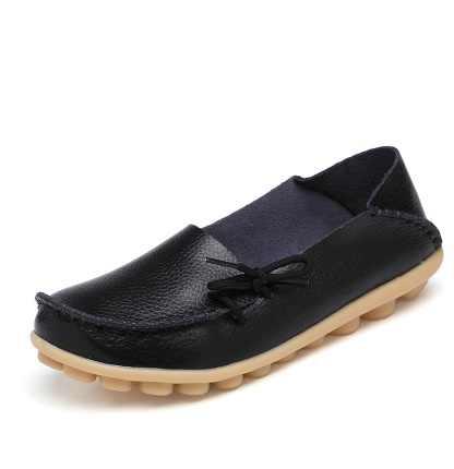 SLYXSH 2019 nuevas mujeres zapatos de cuero Real mocasines madre mocasines suave ocio planos Casual mujer conducción Ballet calzado