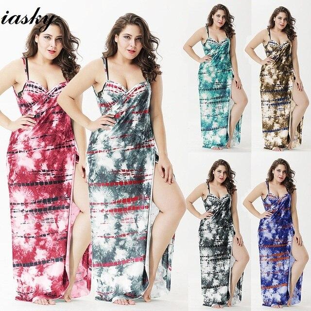 08b7ee9e79 Best Offers IASKY 2018 New Multifunction Plus size Beach Cover-Ups women  Print Kaftan swimsuit