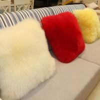 PanlongHome 유럽 울 쿠션 순수 양모 허리 패드 모델 룸 베개 봉제 사무실 럭셔리 액세서리