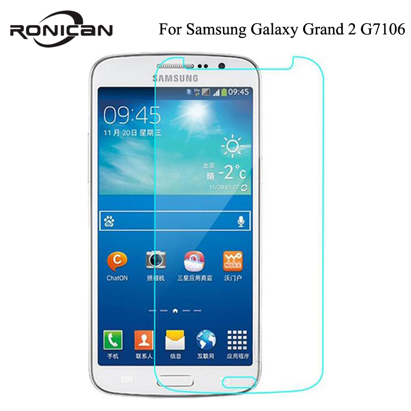 Anti-Shock Tempered Glass Film For Samsung Galaxy Grand 2 Duos G7102 G7105 G7106 G7108 G7109 G7108V Screen Protector On Grand2 ...