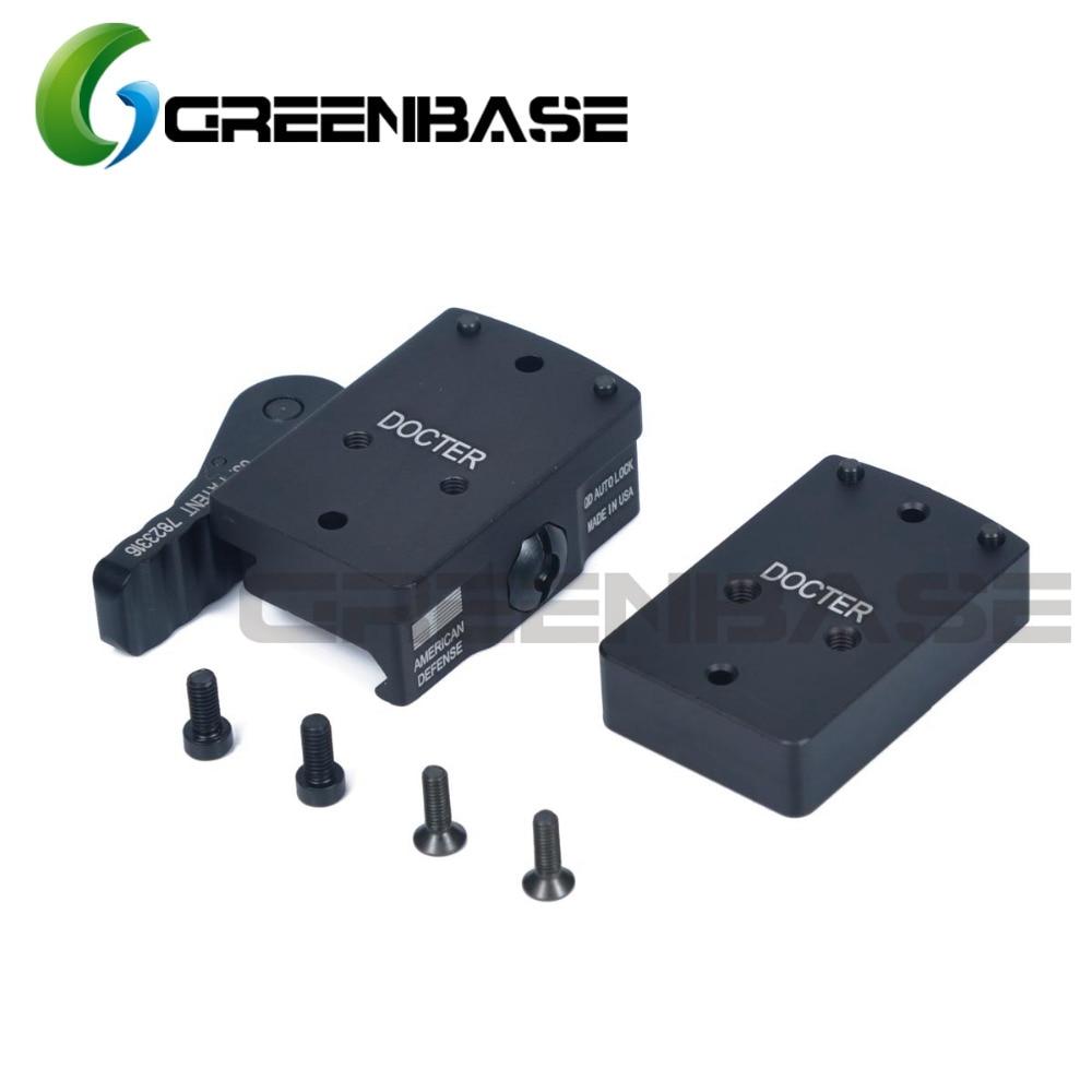 Greenbase DOCTER Mount Mini Riser QD Full Co-WitnessMount For Mini Red Dot Sight Picatinny Rail Base Airsoft Grade Aluminum