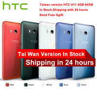 Original HTC U11 4G LTE Mobile Phone Snapdragon 835 Octa Core IP67 Waterproof 6GB RAM 128GB