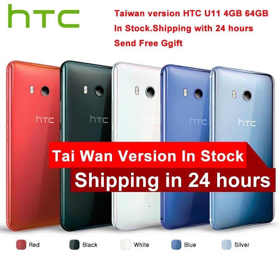 TaiWan Versão HTC S11 4G LTE Mobile Phone Snapdragon 835 Octa núcleo IP67 À Prova D' Água 6 GB RAM 128 GB ROM 5.5 polegada 2560x1440 p Telefone