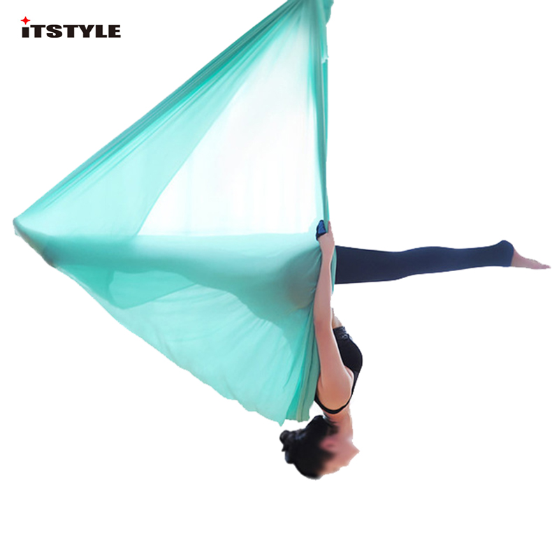 5 Meters Aerial Yoga Hammock Elasticity Swing Multifunction Anti-gravity Yoga Training Belts