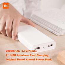 Original Xiaomi Power Bank 20000mAh 2C Portable Charger Support QC3.0 Dual USB Mi External Battery 20000 lithium battery