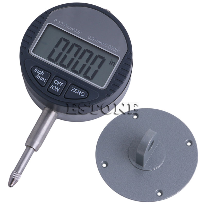 0.01mm/0.0005 Range 0-12.7mm/0.5'' Gauge Digital Dial Indicator Precision Tool NEW